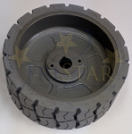Genie 105122 Front / Rear Non-Marking Tire & Wheel Assembly 12 x 4 1/2 (Fits Genie GS1930 / GS1530)