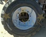 (4) Set of 4 14.00-24 NHS Telehandler Foam Filled Tire w/ Refurbished Rim (Exchange)