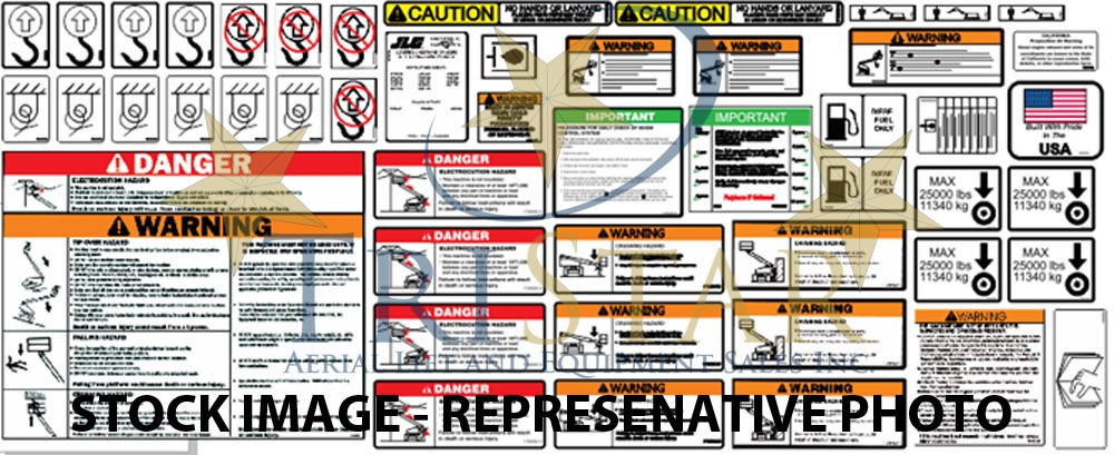 Genie Z45/25 IC Boom Lift Decal Set (Safety Only)